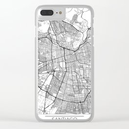 Santiago Map White Clear iPhone Case