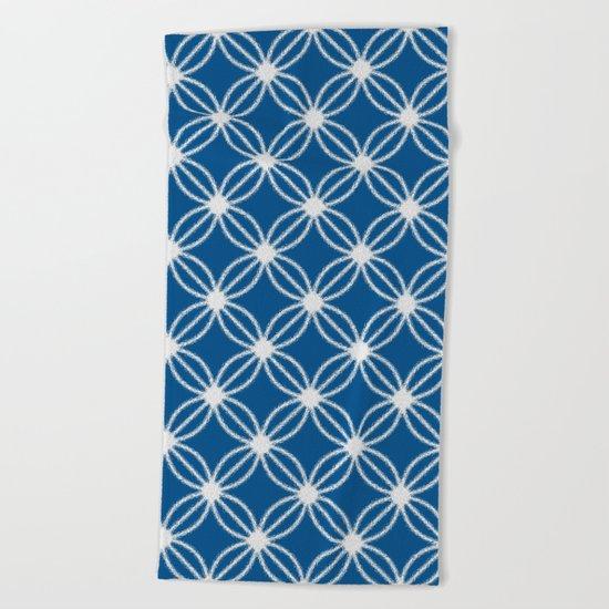 Abstract Circle Dots Beach Towel