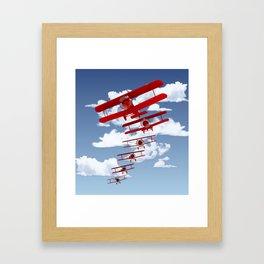 Retro Biplanes Framed Art Print