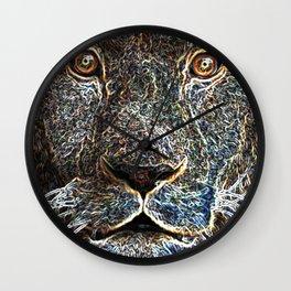 Trippy Lion Wall Clock