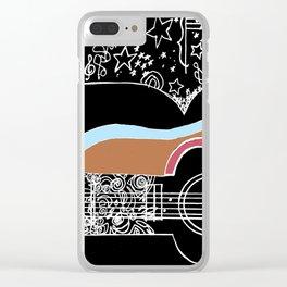 Guitar & stars Clear iPhone Case