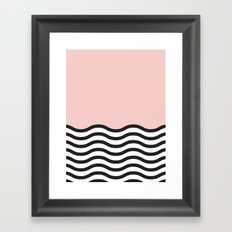 Waves of Pink Framed Art Print