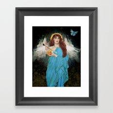 Blue Goddess Framed Art Print