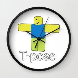 Roblox Noob T-Poze Wall Clock