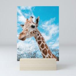 Giraffe Selfie Mini Art Print