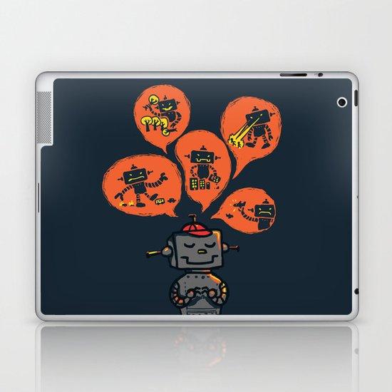 When I grow up - an evil robot dream Laptop & iPad Skin