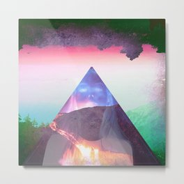 Even the cool erupt  Metal Print
