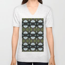 train stairs in Astoria District in NY Unisex V-Neck