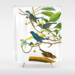 Indigo Bird Shower Curtain