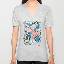 Birds in Spring Unisex V-Neck