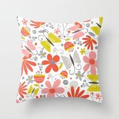 Busy Butterflies Throw Pillow