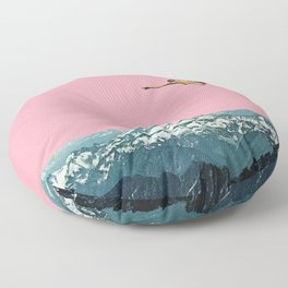 Higher Than Mountains Floor Pillow