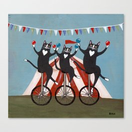 The Circus Cats Canvas Print