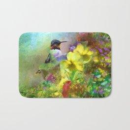 Hummingbird Bouquet Bath Mat