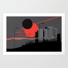 apocalypse city Art Print