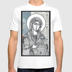 Madonna of Today's Horoscope MEDIUM Mens Fitted Tee White