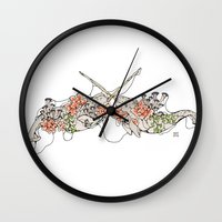 narwhal Wall Clocks featuring Narwhal  by Erin Inglis