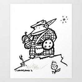 Jacobite Rebellion Ape Art Print