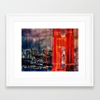 san francisco Framed Art Prints featuring San Francisco by takmaj
