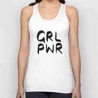 cactei Tank Tops featuring GRL PWR  by ☿ cactei ☿