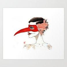 The Masquerade:  The Beak Art Print