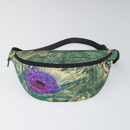 Feather Peacock 23 Fanny Pack