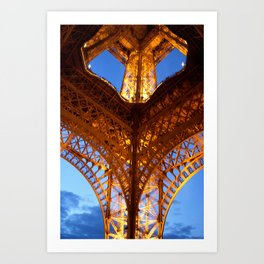 Looking up-Eiffel Tower-Paris Art Print