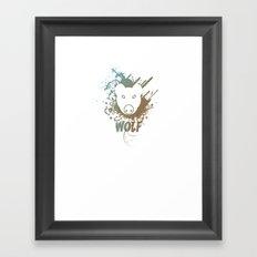 Wolf | Zoo Serie Framed Art Print