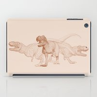 t rex iPad Cases featuring T-Rex by Johannes Schulz