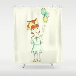 Fox Girl Shower Curtain
