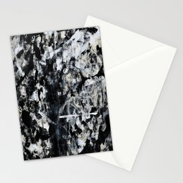 004: a vibrant abstract design in black and white by Alyssa Hamilton Art  Stationery Cards