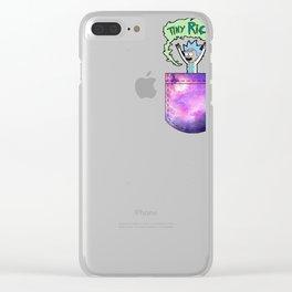 Tiny Rick Pocket Clear iPhone Case