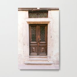 "Travel Photography, ""Door Riquewihr"", Haute-Rhin, Alsace, France Metal Print"