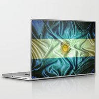 argentina Laptop & iPad Skins featuring Argentina flag. by DesignAstur