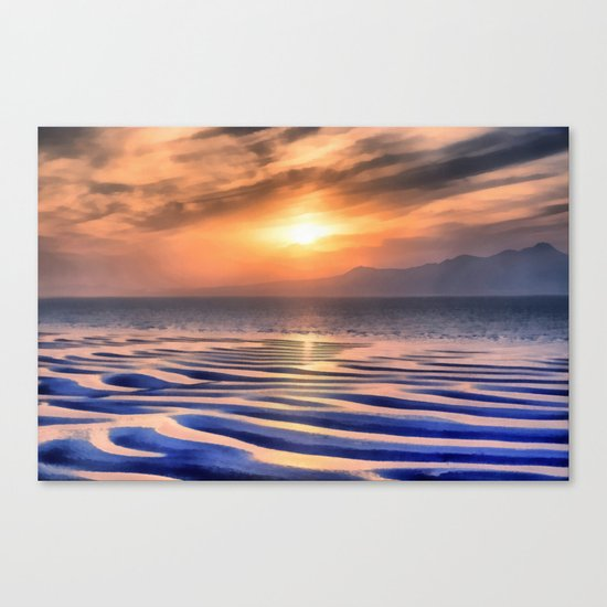 Sunset at high tide Canvas Print