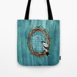 shrike with thorns Tote Bag