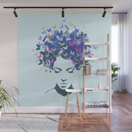 Woman Butterfly Wall Mural