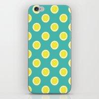 lemon iPhone & iPod Skins featuring lemon by Panic Junkie