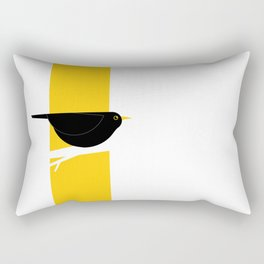 Turdus Merula 02 Rectangular Pillow