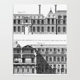 Palais-Royal on the rue St. Honoré 1754 Poster