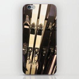 Vintage Skis iPhone Skin