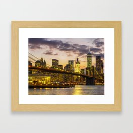 Brooklyn Bridge and Lower Manhattan 2 Framed Art Print