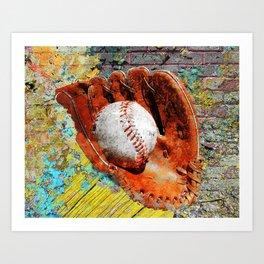 Baseball art printwork 12 Art Print