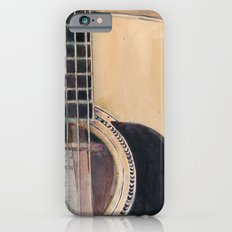 Martin Acoustic Guitar  SSC-D35-14 - from Canada - Watercolor Art Print Slim Case iPhone 6