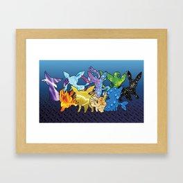 """""""The Dream Team"""" - X & Y Eeveelutions Framed Art Print"""