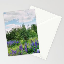Wild lupins Stationery Cards