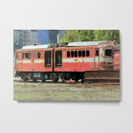 Broken Down Train Metal Print