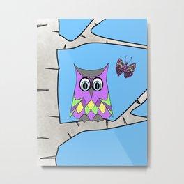 Spring Owl Metal Print