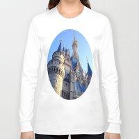 castle Long Sleeve T-shirts featuring Castle by Jillian Stanton