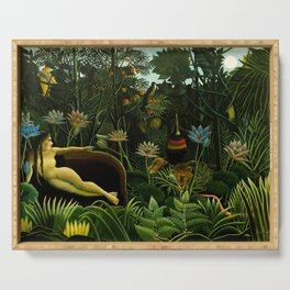 Henri Rousseau The Dream Painting Serving Tray